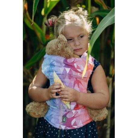 LennyLamb dětské nosítko na panenky Swallows Rainbow Dark