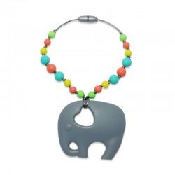 Silikonový přívěsek slon s korálky