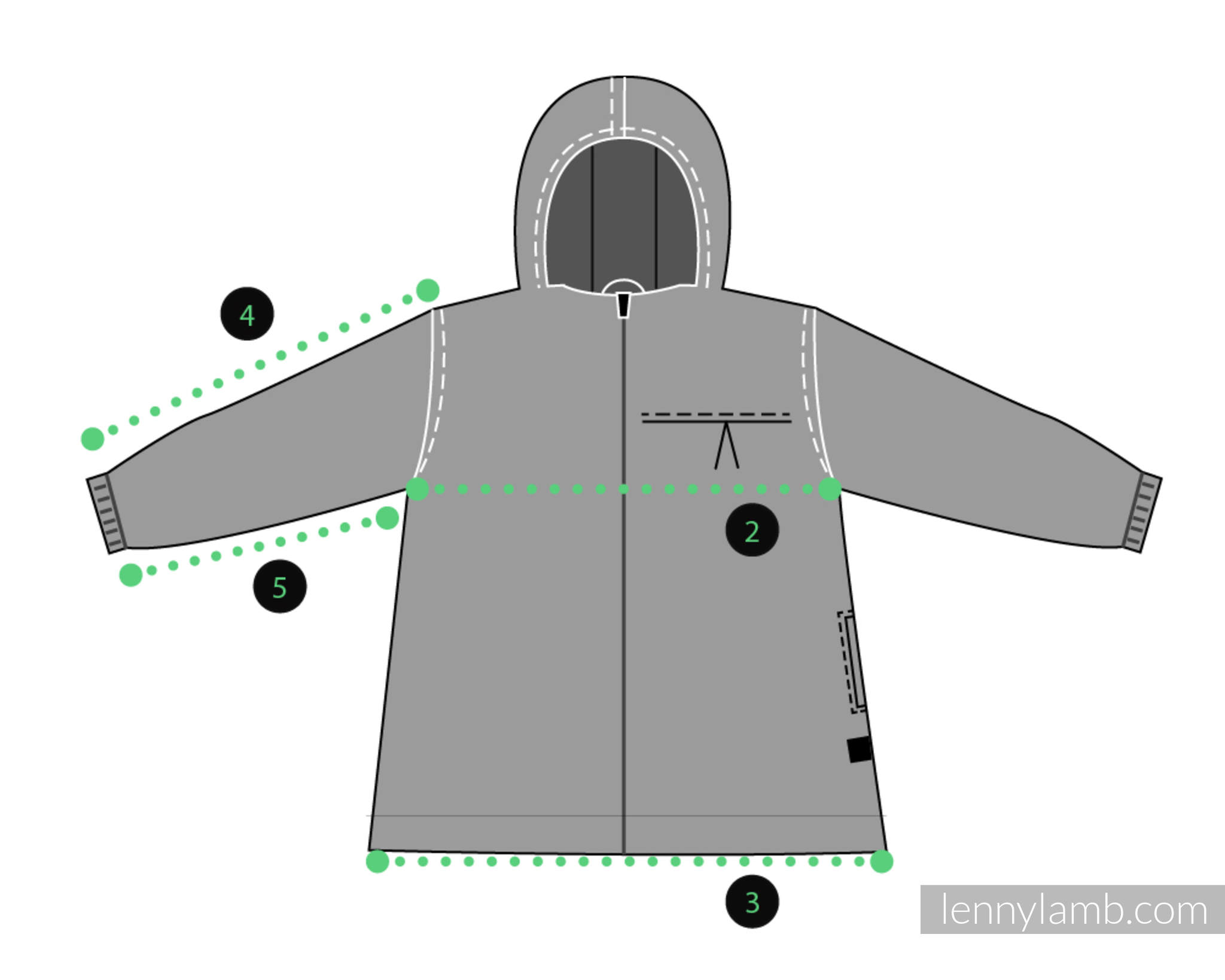 LennyLamb Dívčí kabát