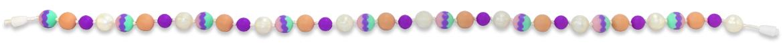 Silikonové kojicí korále pastelové
